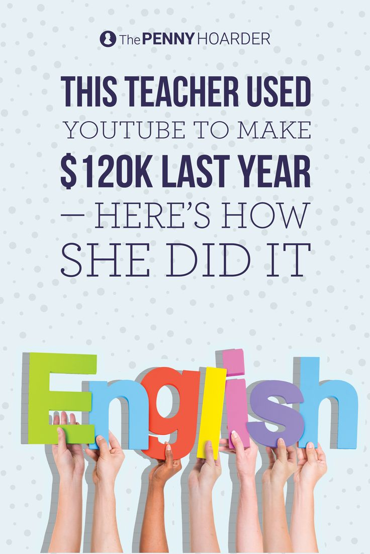 If you want to know how to make money on YouTube, look to Gabby Wallace for advice -- she earned six figures teaching English on YouTube last year! - The Penny Hoarder @thepennyhoarder