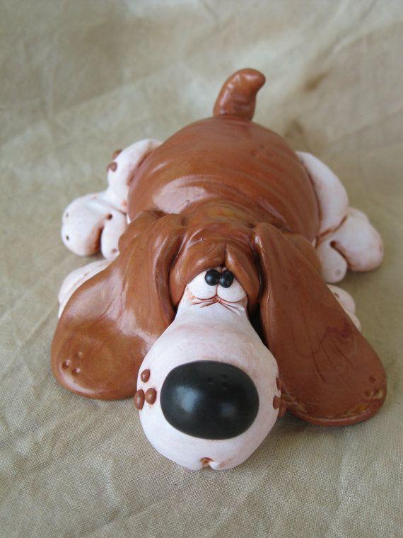 Hound dog Polymer clay
