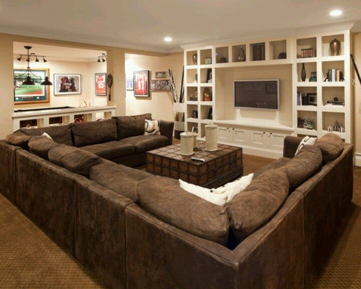 153 best images about katie 39 s living room on pinterest exposed ceilings basement designs and - Basement living room ideas ...