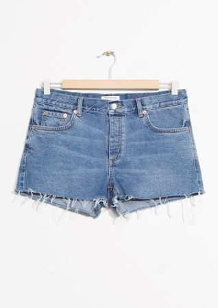 & Other Stories | Raw Hem Jeans Shorts