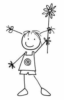 Image result for pen draw stick people birthday cards