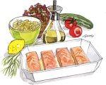 Laks med gorgonzola