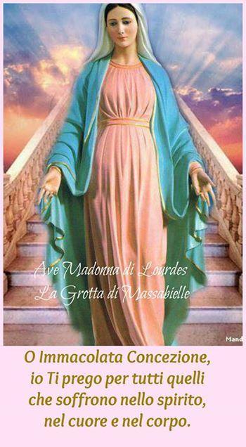 Photo: <3 Ave Madonna di Lourdes La Grotta di Massabielle  <3  NOVENA ALL'IMMACOLATA CONCEZIONE. Secondo giorno. <3 Vergine purissima, concepita senza peccato, tutta bella e senza macchia dal primo istante, Ti venero oggi sotto il titolo di Immacolata Concezione. Il Tuo Divino Figlio mi ha insegnato, attraverso la Sua stima, rispetto e sottomissione a Te, quali onori e omaggi io Ti dovrei prestare.  Tu sei il rifugio sicuro dei peccatori pentiti e per questo ricorro a Te, attraverso questa…