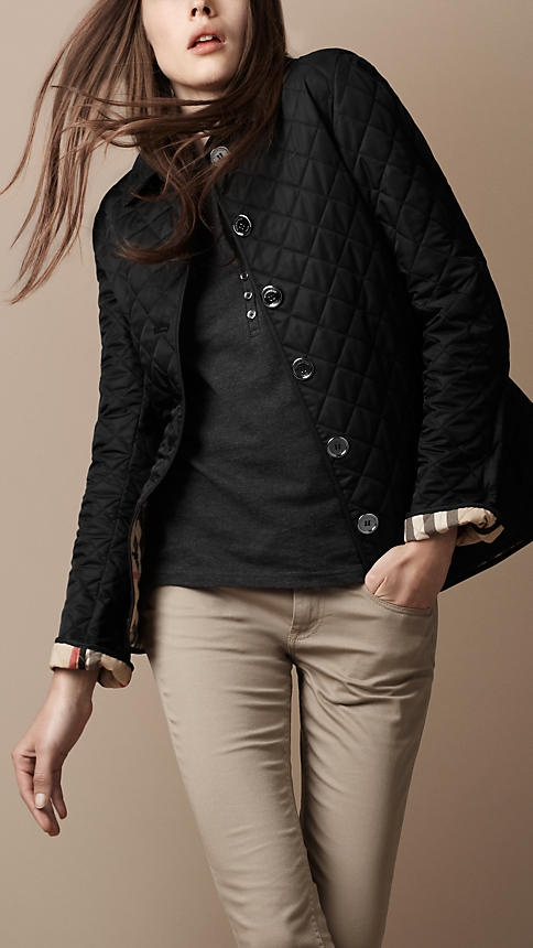 Burberry - CHECK-LINED QUILTED JACKET... someday...