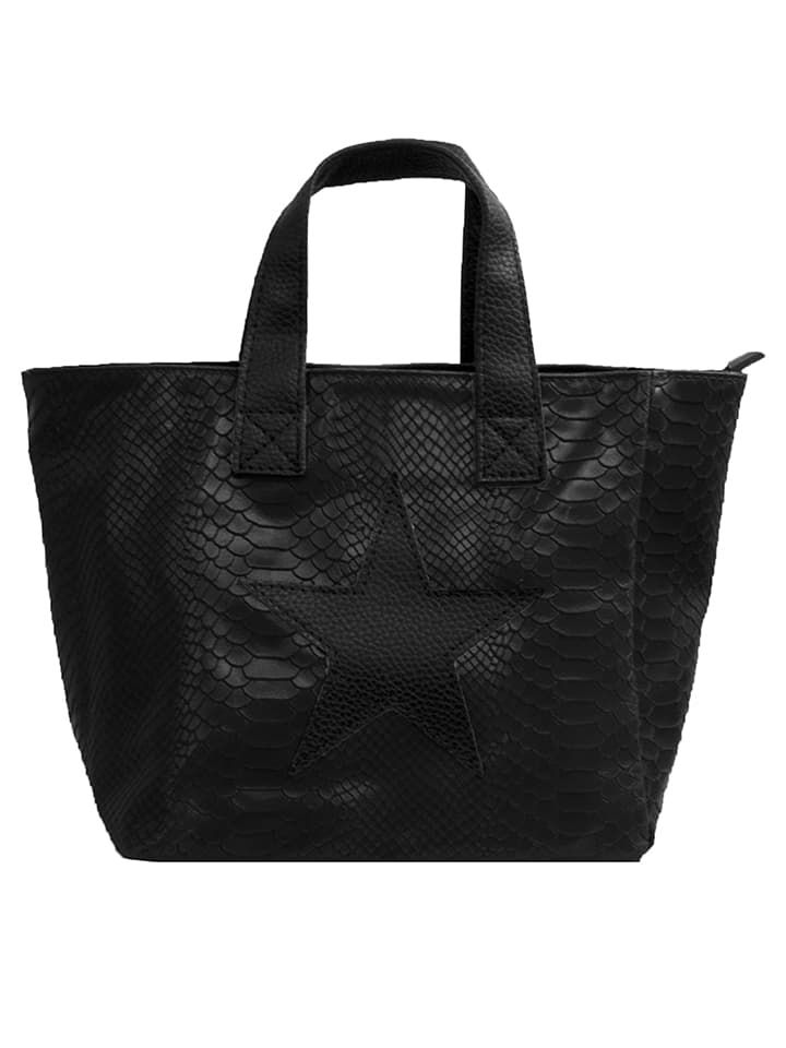 Skórzana torebka w kolorze czarnym - 25 x 24 x 14 cm - Spécial maroquinerie - torebki - Limango