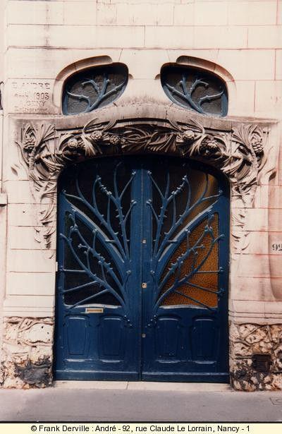Always interesting design        art nouveau door