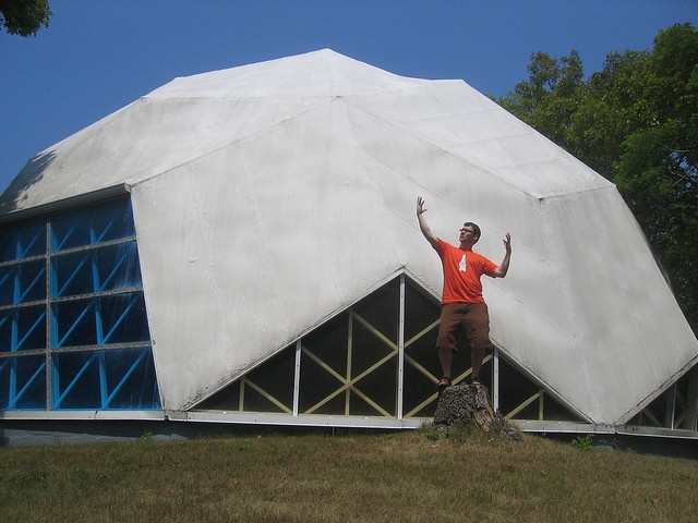 I am King Shit of Geodesic Dome Mountain by Chuckumentary, via Flickr