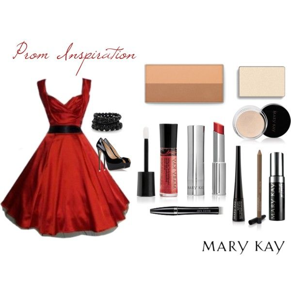 """""""Prom Inspiration - Red"""" on Polyvore As a Mary Kay beauty consultant I can help you, please let me know what you would like or need. Contact me to learn more about my makeover, facials our amazing business opportunity or questions about our products! :) shop 24/7 @ www.marykay.com/hgjoen and find me on Facebook @ www.facebook.com/beautifulyoumarykay"""