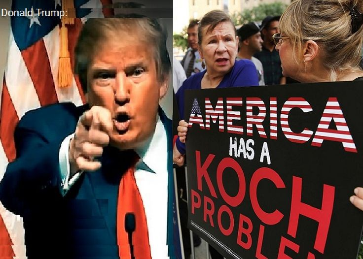"Trump versus the Koch Empire & America's elite-rigged electoral system - The Kochs ""are not fans of the bombastic real estate mogul whose positions on everything from taxes to foreign policy are at odds with theirs."" Donald on the Kochs: ""I've always liked the Kochs. They're members of my club in Palm Beach.""  http://www.motherjones.com/mojo/2016/02/koch-brothers-have-donald-trump-problem http://www.breitbart.com/2016-presidential-race/2016/04/27/donald-trump-charles-koch-dont-need/"