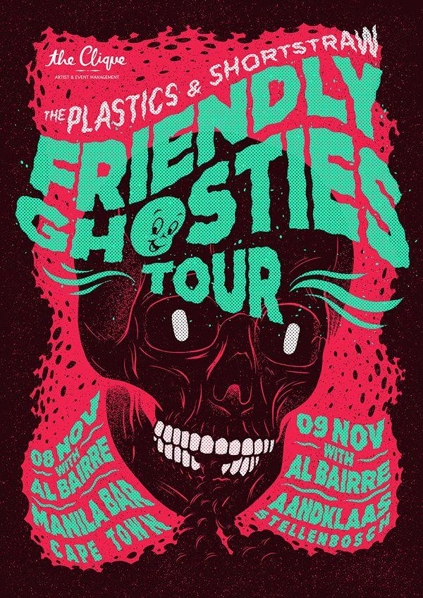 Friendly Ghosties Tour by Ian Jepson, via Behance