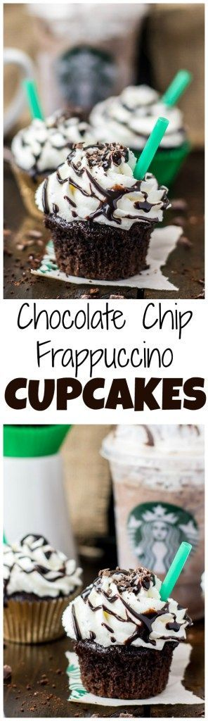 Copycat Starbucks Double Chocolate Chip Frappuccino Cupcakes -- Baja Mamas Party Potions: http://www.bajamamas.com