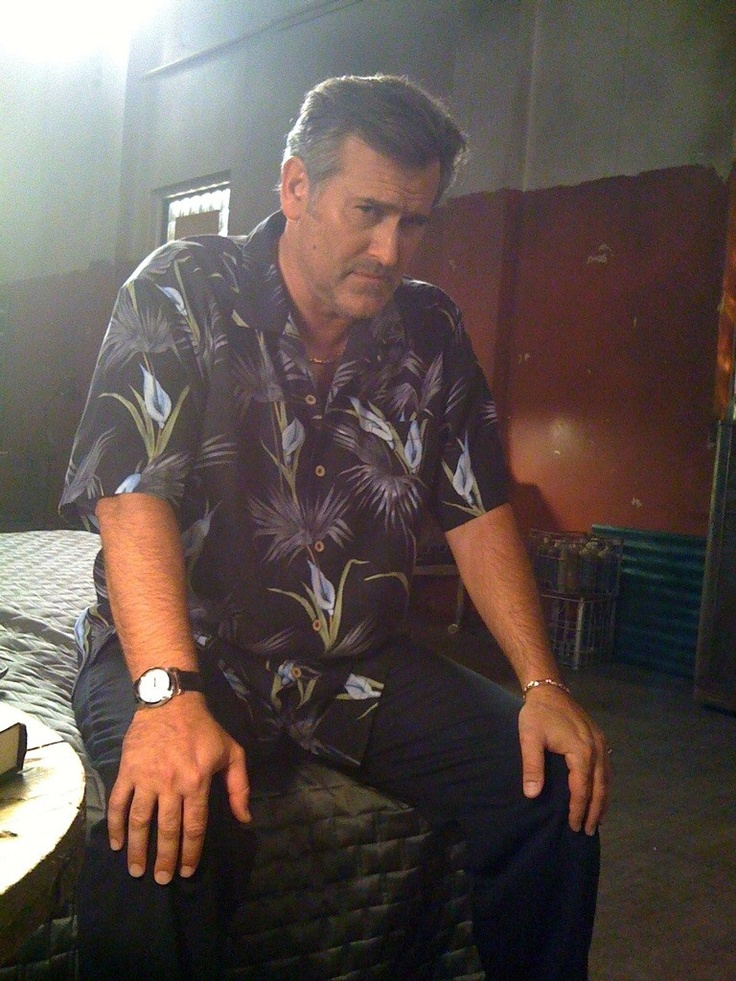 Bruce Campbell, doing his Bruce Campbell thing.