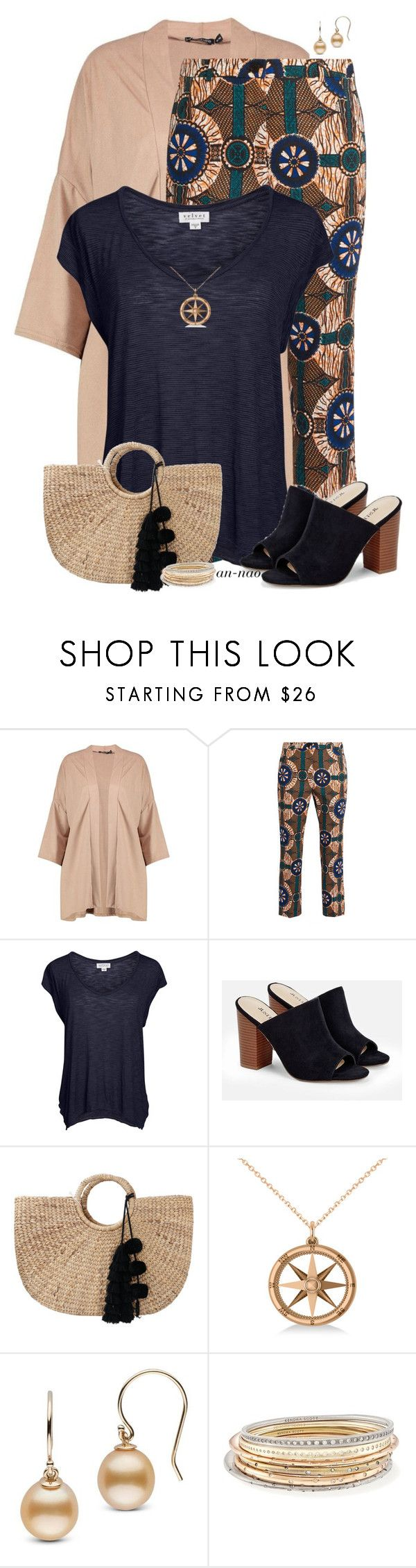 """Printed cropped pants."" by an-nao ❤ liked on Polyvore featuring Boohoo, Weekend Max Mara, Velvet by Graham & Spencer, JustFab, JADEtribe, Allurez and Kendra Scott"