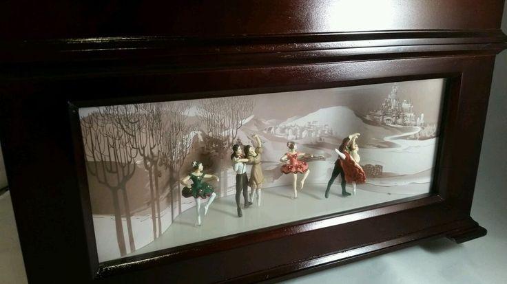 Gold Label Mr. Christmas Music Box w Animated Ballerinas Mechanical Collectibile
