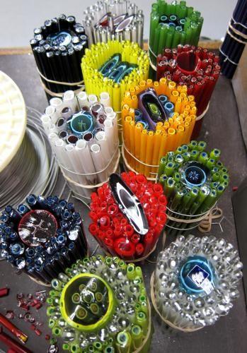 Ever wonder how glass artist Josh Simpson creates the the patterns in his work, using cane? #finecraft www.joshsimpson.com