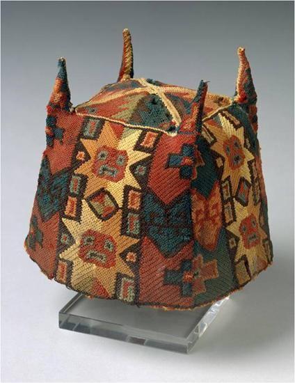 Four cornered woven hat, Tiwanaku, North Highlands of Bolivia, Middle Horizon