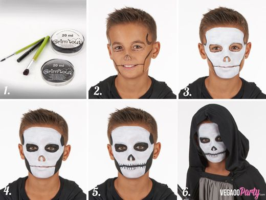 Maquillage squelette garçon Plus