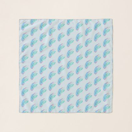 Cool Blue Green Pastel Floral Scarf  $41.03  by Artistically_Yours  - cyo customize personalize unique diy