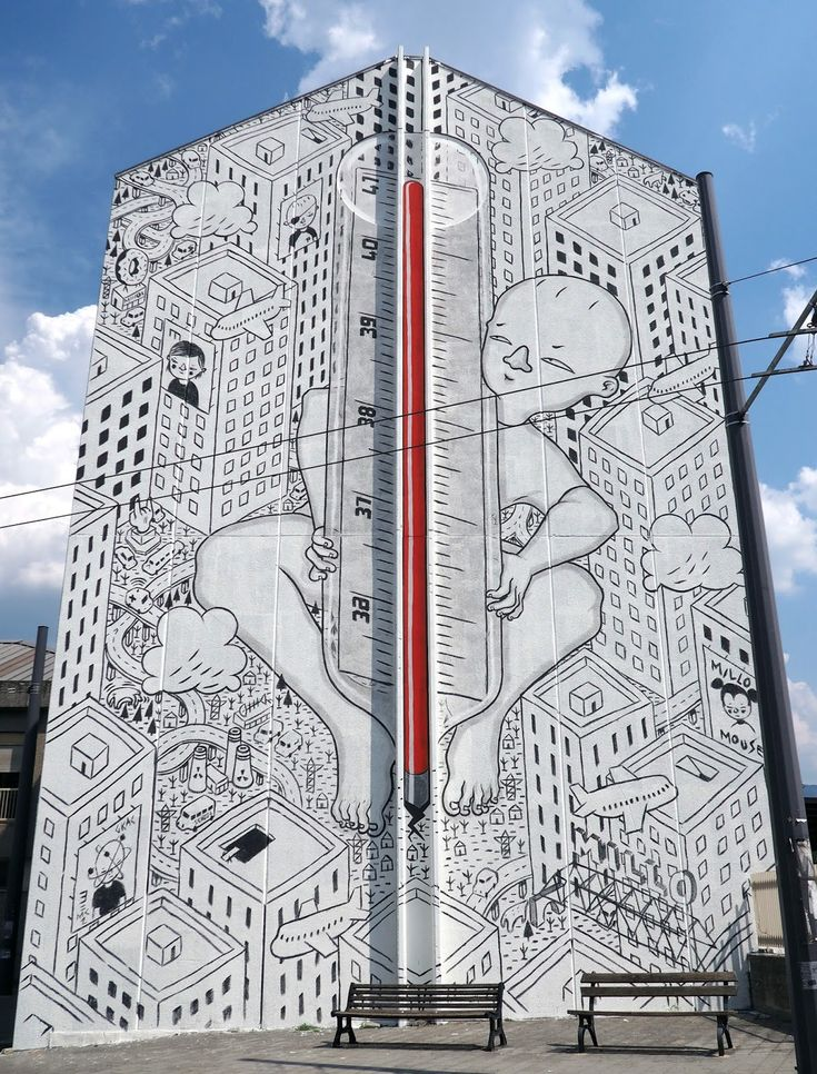 """""""41 Degrees"""", a new mural by Millo in Avellino, Italy"""