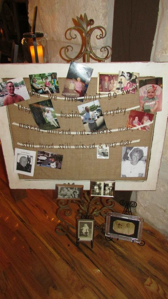 22 best images about celebration of life photo ideas on for Family display board ideas