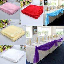 Livraison gratuite 5 x 1.4 m tableau Organza parti Runners Banquet de mariage Bow décoration 6 couleurs décoration de mariage Casamento E5M1(China (Mainland))
