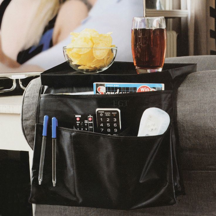 6 Pocket Arm Chair Armrest Organiser Couch Sofa TV Remote Control Food Holder | eBay