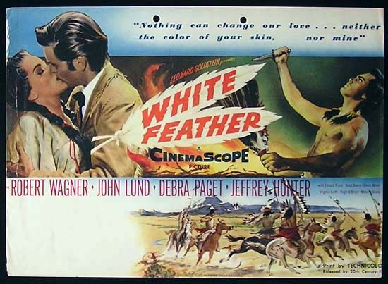 1955 movie posters | Details about WHITE FEATHER Wagner CINEMASCOPE Trade Movie poster