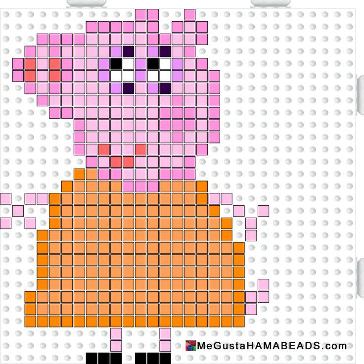 Peppa Pig Mummy Pig hama perler beads pattern
