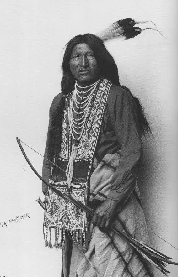 Kicking Bear was a Native American medicine man who was born Oglala Sioux, but became a sub-chief among the Minneconjou Sioux during the period known as the Sioux Wars (1854-1890). Both the Oglala and the Minneconjou belonged to the Lakota Nation. He was a first cousin and close friend of Chief Crazy Horse.