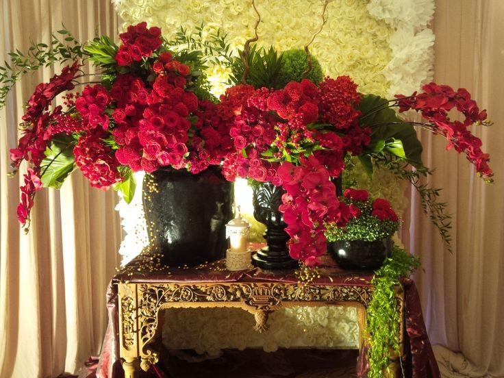 Bunga Standing+Backdrop Rose Artificial