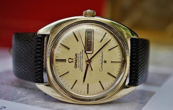 Omega Constellation Automatic Chronometer Calibre 751 Gents #Omega #Omegawatch #vintageomegawatch #vintageomegaseamaster