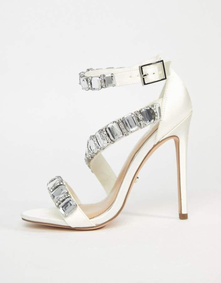 5cdc051c948b Asos DESIGN HOPES AND DREAMS Premium Bridal Heeled Sandals  HOPES DREAMS  Asos