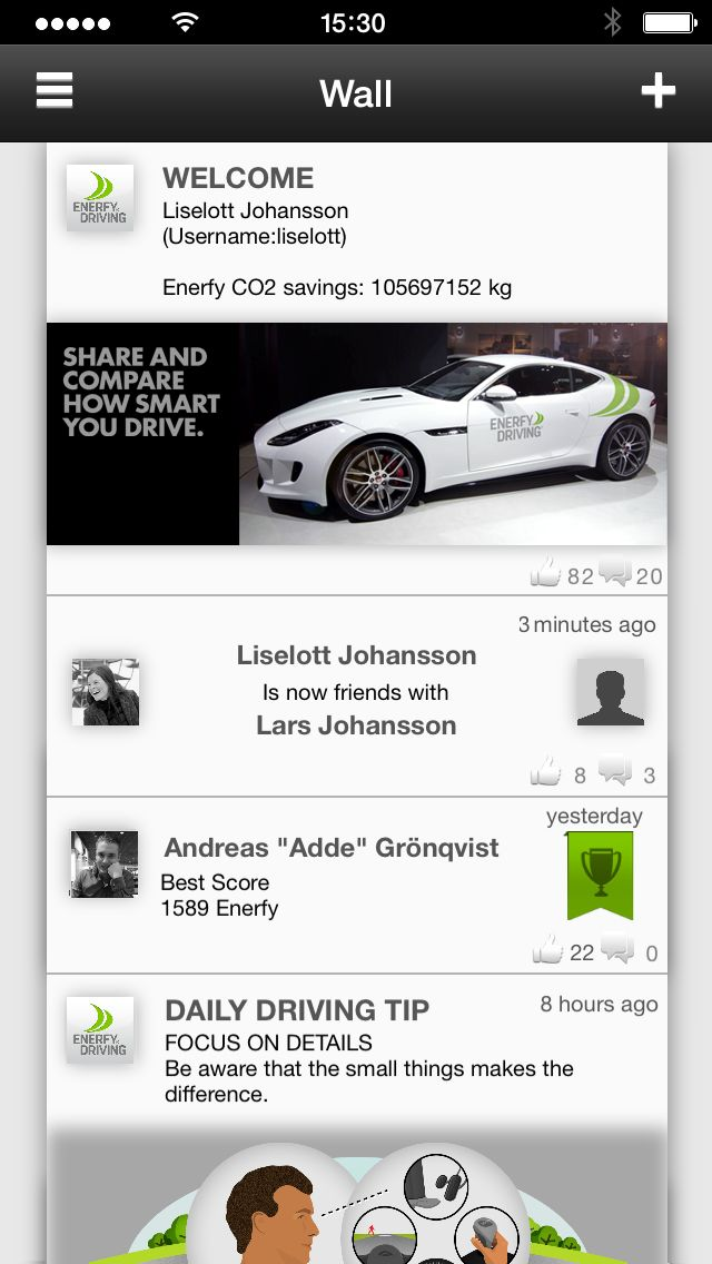 Enerfy Driving Wall in app. EnerfyDriving. #enerfy #enerfydriving. http://www.enerfydriving.com