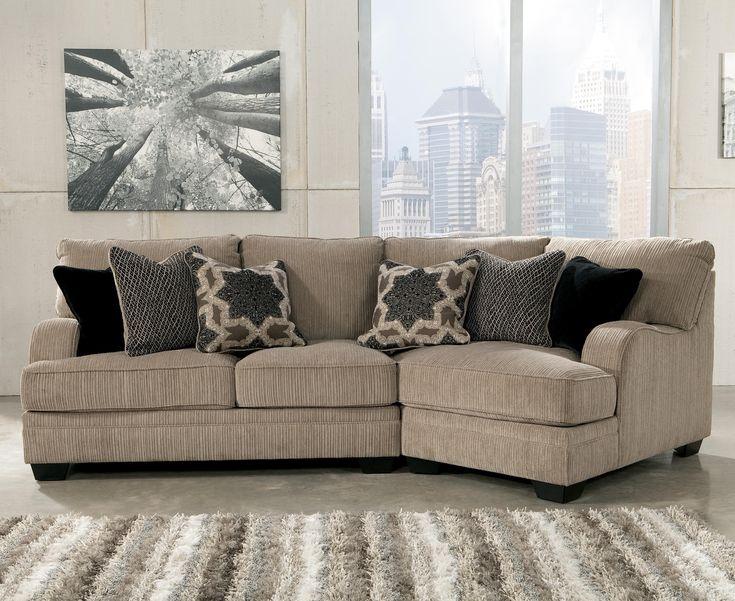 Ashley Signature Design Katisha   Platinum Sectional With Right Cuddler    Rooms And Rest   Sofa Sectional Mankato, Austin, New Ulm, Minnesota