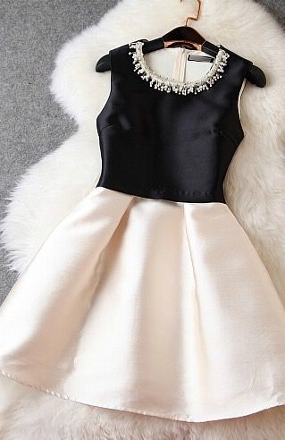 Beaded collar party dress