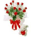 Red roses with teddy available for Hyderabad delivery. Secured online gifts delivery to Hyderabad on your chosen date.  Visit our site : www.flowersgiftshyderabad.com/Valentines-Gifts-to-Hyderabad.php