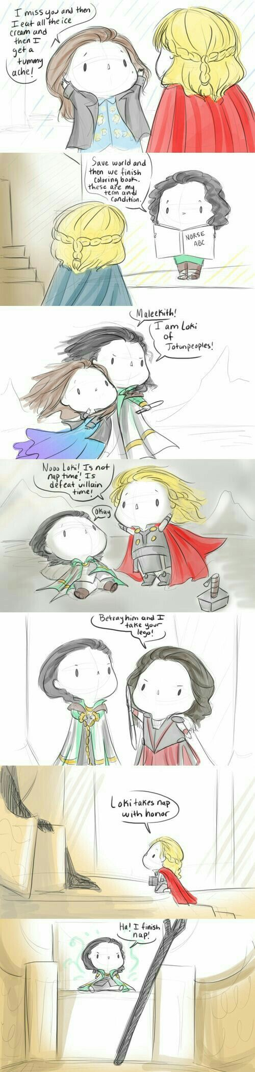 Baby Avengers Thor2<<<I don't know what's happening, all I know is that it's adorable