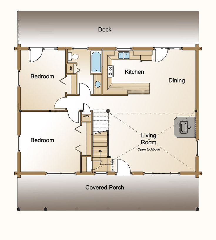 Inspiration House Plans Bungalow Open Concept: Needs A Master Bath But Small/cute Open Concept Kitchen