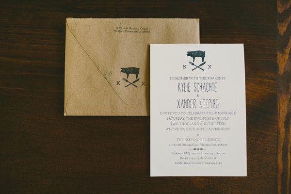 Lovely rustic farm to table wedding themed invites! | http://www.weddingpartyapp.com/blog/2014/10/29/boho-farm-table-wedding-katch-silva/