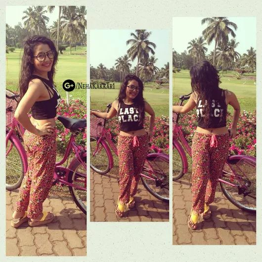 Neha Kakkar Picture With Her Favorite Cycle