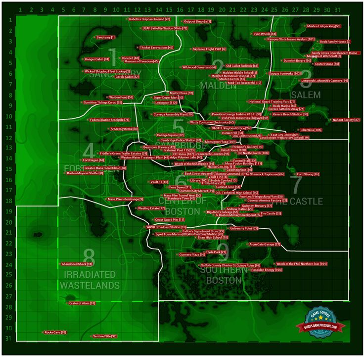 Fallout 4 - Magazines Location Map