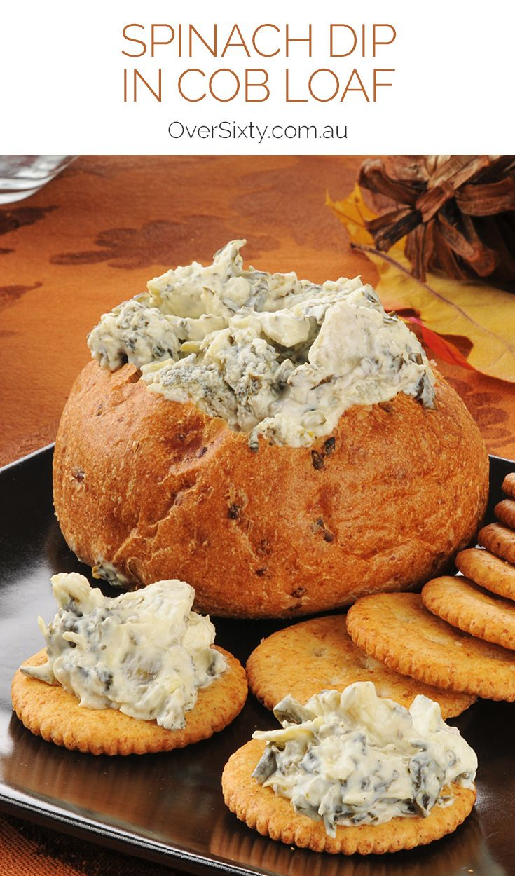 Spinach Dip in a Cob Loaf - this favourite recipe is great for when you're entertaining.