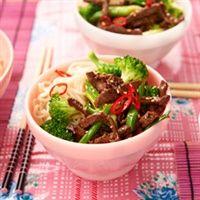 Oosters rundvlees met oestersaus en broccoli