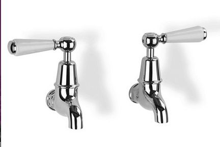 Kitchen Sink Bib Taps With Levers - £234.00 - Hicks and Hicks