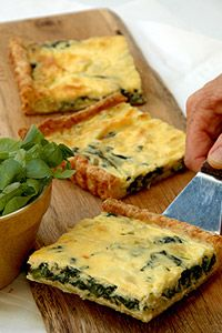 Leek And Spinach Quiche with Cheese Pastry