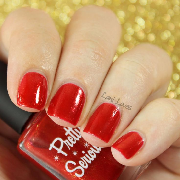 Pretty Serious - Evie's First Christmas nail polish swatches & review
