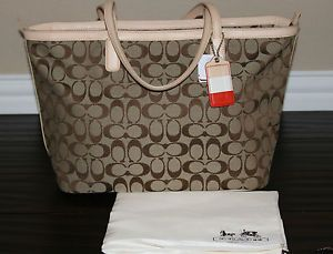 NWT! COACH Signature Legacy Weekend Diaper Baby Shoulder Bag Book Tote Purse