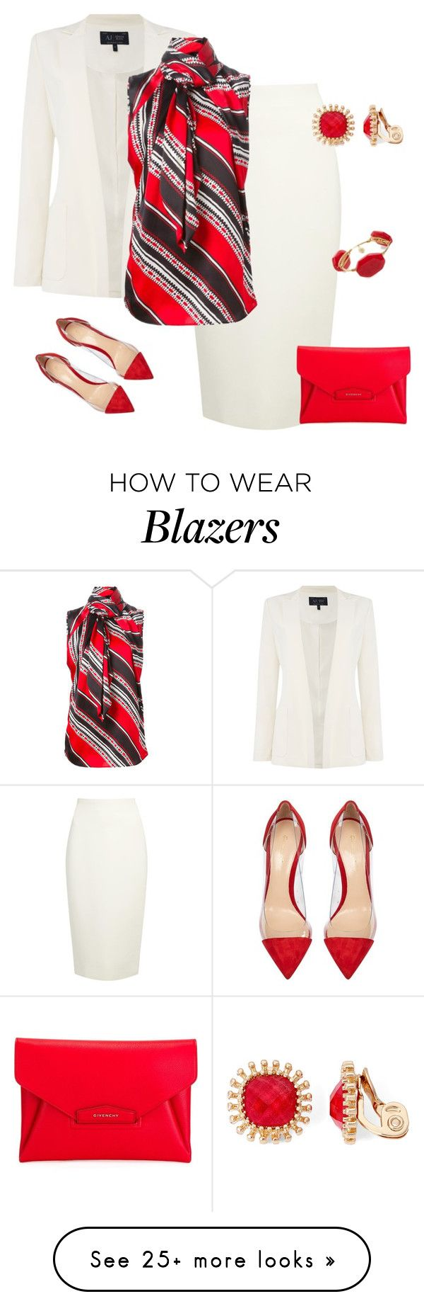 """outfit 3674"" by natalyag on Polyvore featuring Armani Jeans, Donna Karan, Gianvito Rossi, Givenchy, Monet and Bourbon and Boweties"