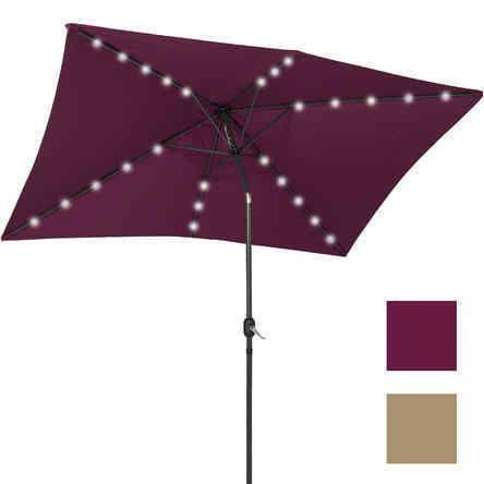rectangular patio umbrella with solar lights outdoor patio umbrellas. Black Bedroom Furniture Sets. Home Design Ideas