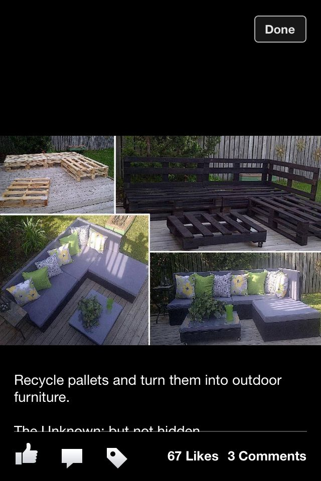 Outdoor furniture- make it with wood instead of pallets